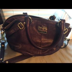 Coach purple handbag